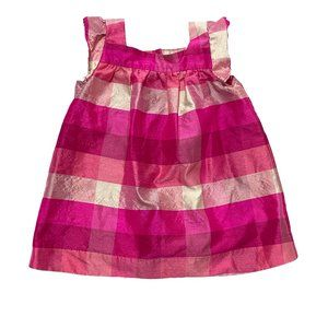 Baby Gap Fuchia Pink Plaid Dress
